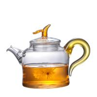 Buy cheap 280ml Colorful Clear Glass Teapot With Removable Infuser Unique Design Borosilicate Kettle from wholesalers