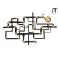 Buy cheap Retro Style Tube Vintage Industrial Wall Decor Conduit / Ap Croosed Metal Wall Art from wholesalers