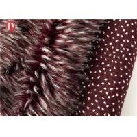 Buy cheap Wine Red Fake Fur Fabric , Ostrich Feathers Light Brown Faux Fur Animal Jacquard from wholesalers
