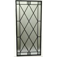 Buy cheap Wrought iron glass for wooden door from wholesalers