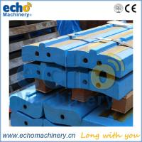 Buy cheap white iron stone crusher wear parts Kleemann MR130 EVO bow bar, impactor bar, hammer from wholesalers