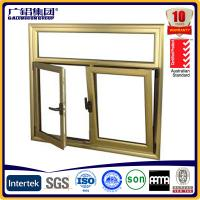 Buy cheap Wood color Aluminium double glazed windows for tilt and turn aluminium window (Guang zhou) from wholesalers