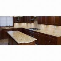 Buy cheap Granite Kitchen Countertop/Island Top, New Venetian Gold Material,From Brazil, Polished, Cheap Price from wholesalers