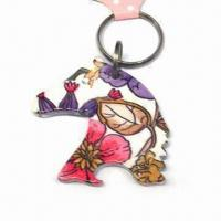 Buy cheap Horse Design Keychain, Customized Logos are Accepted, Made of Alloy and Plastic from wholesalers