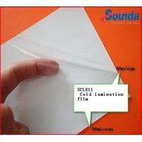 Buy cheap Transparent Vinyl Self Adhesive Cold Laminate Sheets with PE Coated Silicon Paper from wholesalers