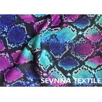 Quality Wefting Knitted Swimwear Knit Fabric , Sublimation Printing Swimwear Spandex Fabric for sale