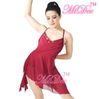 Buy cheap Camisole V - Neck High-Low Lyrical Dress Latino Dance Wear 87% Polyester 13% Spandex from wholesalers