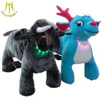 Buy cheap Hansel china realmanufacturer happy ride toy animal hot in mall cartoon plush animal dog ride from wholesalers