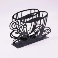 Buy cheap Dinner Metal Napkin Holder Black Coffee Cup Shape Paper Napkin Holder 15 X 4 X 10cm from wholesalers