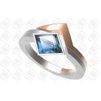 Buy cheap Blue Diamond Crystal 316 Stainless Steel Rings For Her / Him from wholesalers