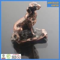 Buy cheap Plating antique bronze casting 3D metal Dog animal tabletop gifts from wholesalers