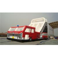 Buy cheap Fire Truck Inflatable Water Slide Combo 0.55 Plato CE Cert Material EN14960 Standard from wholesalers