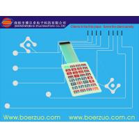 Buy cheap Flexible PCB LED Single Membrane Switch , Custom Push Button PVC Membrane Overlay from wholesalers