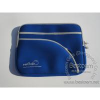Buy cheap Blue Neoprene Notebook carrying bag with 2 front pocket nylon zipper from wholesalers