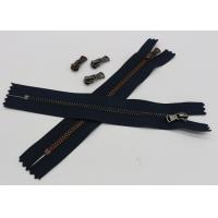 Buy cheap Black Tape Extra Long Invisible Zipper , Women Dress Closed Ended Metal Zips from wholesalers
