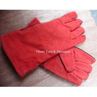 """Buy cheap 13"""" Red color Leather Welding Gloves from wholesalers"""