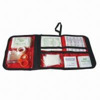 Buy cheap 40 Pieces First Aid Kits, FDA and CE Certificates, Can Print Logo on Nylon Bag from wholesalers