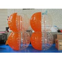 Buy cheap Inflatable Yard Toys Clear Body Bumper Ball Half Blue And Orange Color from wholesalers