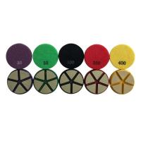 Buy cheap 80mm Ceramic Bond Diamond Terrazzo Polishing Pads Fast Grinding Long Working Life from wholesalers