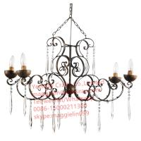 Buy cheap YL-L1015 antique iron metal modern chandelier, led  iron hanging lamps with K9 crystal from wholesalers