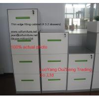 Buy cheap Vertical filing cabinet steel material 4 drawer,A4/F4 Files available,white/light grey/black color/ KD structure from wholesalers