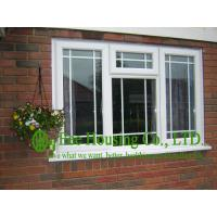 Upvc Fixed Windows With Grilled For Villas, Double glazing Upvc windows from China factory