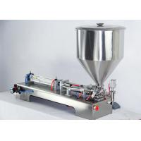 Buy cheap Adjustable Semi Automatic Filling Machine , Glass Milk Bottle Filling Machine from wholesalers