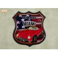 Buy cheap USA Flag Wall Decor 3D Resin Car Wall Mounted Plaques Antique MDF Pub Signs from wholesalers