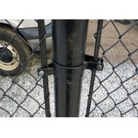 China 6 foot 9 gauge * green chain link fence on sale