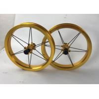 Buy cheap 2020 12inch  Aluminum Alloy Kids Balance Bike Wheelset Aluminum Six awn star 12*2.125 Wheel  Golden Black More Colors from wholesalers