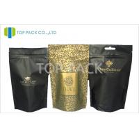 Buy cheap Aluminum Foil Coffee Packaging Bags Resealable Stand Up Pouches With White Valve from wholesalers