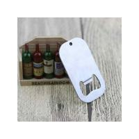 Buy cheap Engraved Blank Stainless Steel Dog Tag Keychain Bottle Opener,Personalized blank stainless steel dog tag beer bottle op from wholesalers
