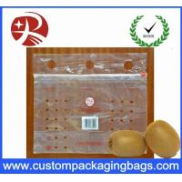Buy cheap Customized Clear PE slider Fresh Fruit Packaging Bags With Hole from wholesalers