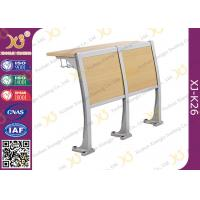 Buy cheap Wooden Material Attached School Desk And Chair Floor Mounted from wholesalers