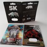 Buy cheap 3D Card Blister Pack Packaging Custom Printed Paper Card Rhino 7 Jaguar 30000 Sex Pill Pack from wholesalers