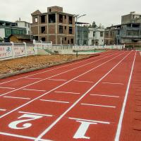 Buy cheap OEM Running Track Surfaces , Synthetic Athletic Track Acid Resistance from wholesalers