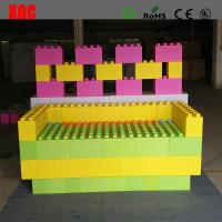 Buy cheap Rotational Moulding PE Building Block Set Plastic Lego Blocks 20x20x40 cm from wholesalers