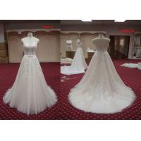 Buy cheap Custom Made White Lace A Line Ball Gown Wedding Dress For Older Brides Floor Length from wholesalers