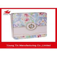 China Empty Biscuits Packaging Square Metal Tins on sale