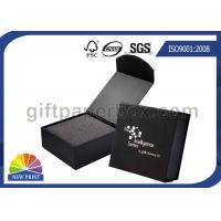 Buy cheap Black or Red Custom Jewelry Gift Box with Logo Printed for Wedding Ring Packaging from wholesalers