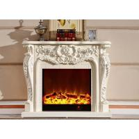 Buy cheap Luxury White Antique Home Electric Fireplace With Remote Control from wholesalers