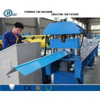 Buy cheap 380V Industrial Ridge Cap Roll Form Machine , Roof Cap Making Machines from wholesalers
