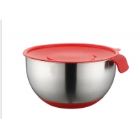 Buy cheap SS304 Stainless Steel Mixing Bowls With Lids Non Slip Silicone Bottoms Salad from wholesalers
