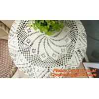 Buy cheap Hand Crochet table clothing - table cover - white, wedding and banquet, blanket, clothes from wholesalers