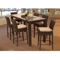 Buy cheap Outdoor Commercial Dining Furniture Set Patio Bar Sets with 6 Pieces Bar Chairs from wholesalers