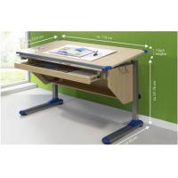 Buy cheap Wood Grain computer Adjustable Drawing Desk table with Ruler Storage from wholesalers