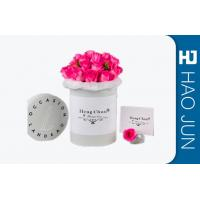 Buy cheap Custom Colorful Luxury Round Flower Cardboard Flower Boxes With Logo For Wedding from wholesalers