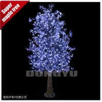 Buy cheap 3M High simulation led artificial maple tree for decoration from wholesalers