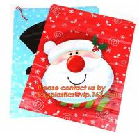 Buy cheap Christmas Fancy Gift Poly Bag /drawstring santa sack bag, decoration bags, jumbo bags, giant gift bags, Christmas bags from wholesalers