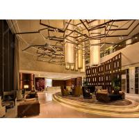 Buy cheap Commercial Luxury Style Hotel Lobby Furniture With Coffee Table And Sofa Sets from wholesalers